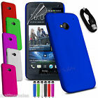 Premium Thin Hard Cover Case for HTC One M7 M8 M9 X XL + Chage Sync USB Cable