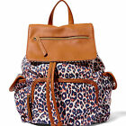 Madden Girl BETRENDEE Backpack Bag in Black Floral or Leopard-NWT-RP: $54