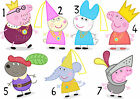 PEPPA PIG GEORGE PAPA PIG STICKER WALL DECO DECAL PERSONALISED LOT PP