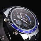 Professional Chronograph LED Military Travel Sports Dual Time Waterproof Watches