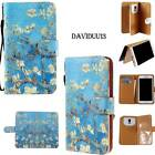 Folio Flip Wallet Card Magnetic Stand Leather Case Cover For Various HTC Phones