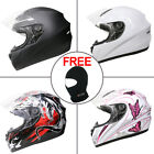 LEOPARD Solid Matt Black Full Face Motorcycle Motorbike Helmet Scooter Crash
