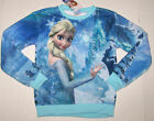 Nwt New Disney Frozen Fleece Sweatshirt Top Shirt Elsa Princess Blue Cute Girl