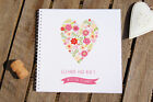 Wedding Planner Heart Design Personalised Notebook Gift Idea Various Sizes