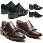 NEW LADIES DOLCIS LOW HEEL MONK STRAP BUCKLE ROUND TOE SLIP ON SHOES UK SIZE