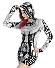 Vulture Hood Dress Print Gothic Bird Wings Tunic Occult Pagan Wicca Goth Emo