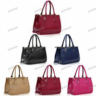 BLACK BEIGE PINK BLUE RED Faux Patent Leather Mock Croc Shoulder Bag #215