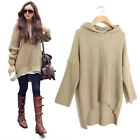 New Womens Batwing Jumper Cape Ponchos Oversize Knitwear Sweater Tops Pullover Q