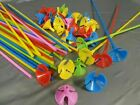 Colourful Party Balloons, Sticks & Cups Mixed Colours