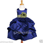 NAVY SAGE PICK UP JR. BRIDESMAIDS FLOWER GIRL DRESS 6M 12M 18M 24M 2 4 6 8 10 12