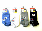 LADIES LYCRA ONE SIZE SPORTS SOCKS (4-7) IN BLUE, GREY, BLACK AND WHITE-SK132