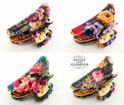 FLORAL FLOWER VINTAGE HAIR CLIP CLAW GRIP CLAW CLAMP BUTTERFLY CLIP CLAMP (D)