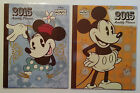 NEW 2015 Disney MICKEY or MINNIE  MOUSE Monthly Notebook Planner FREE SHIPPING