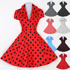 VINTAGE 1950'S ROCKABILLY STYLE SWING PINUP WRAP EVENING PARTY DRESS PLUS 5 SIZE