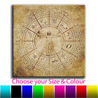 Abstract Zodiac Map Single Canvas Wall Art Picture Print 2