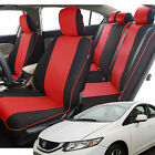 3D Air Mesh Fabric Seat covers Full Set for Honda, Gray and Black and More Color
