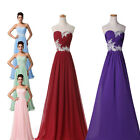 Elegant Beads Long Evening Gown Ball Formal Party Cocktail Prom Bridesmaid Dress