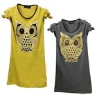 New Hot Women Unique Cute Cartoon Owl T-shirt Casual Long Sleeve Fashion Tops S