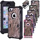 3 Layers Heavy Duty Real Tree Straw Grass Hunter Camo Case Cover for iPhone 5c