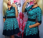 New Women Fashion Lady Blue Tone Printing Geometry Splice Dress Skirt Hot