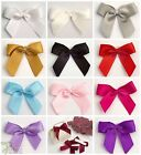 Self Adhesive 5cm Wide Satin Pre-Tied Bows 15mm/16mm Crafts or Matching Ribbon