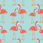 ½ MTRs / FQ / Swatch - Riley Blake LULA FLAMINGO Fabric - Blue - 100% Cotton