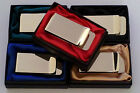 Personalised High Polished Money Clip Free Engraving Coloured Gift Box