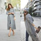 ZARA NEW COLLECTION 2014. SIZE L. EXTRA LONG GREY WOOL COAT JACKET. BLOGGERS.