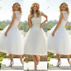 Sexy White Lace  Prom Dress Bridesmaid Formal Evening Dresses Size 6 8 10 12