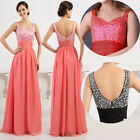 Formal Long Straps Lady Women Prom Evening Party Bridesmaid Wedding Maxi Dress