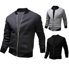 New Free Ship Men's Baseball Jacket Slim Sweatshirt Casual Outwear Sweater Coats