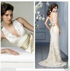 2015 New White Ivory Wedding Dress Bridal Gown Custom Size 6-8-10-12-14-16