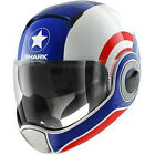 SHARK VANTIME COSPLAY RED WHITE BLUE PILOT CAPTAIN AMERICA MOTORCYCLE HELMET