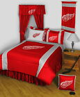 Detroit Red Wings Bed in a Bag Curtains & Valance Twin to King Size