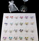 Wine Glass Charm Happy Birthday 18 21 30 40 50 60 Special Age Heart  Organza Bag