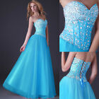 STOCK Beaded Sexy Sequins Long Party Gown Homecoming Evening Prom Cocktail Dress
