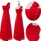 RED LONG PROM DRESSES MASQUERADE GOWNS SEMI FORMAL EVENING PARTY PETITE DRESS 4+