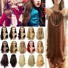 Half Wig Cover Lady 1Piece 3/4 Full Head Wigs&Wig Cap US Best Price USPS Fast C3