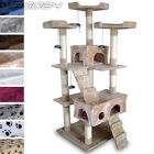 Cat Kitten Scratching Post Tree Sisal Climbing Play Mice Activity Centre Toy 5ft