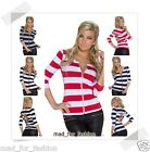 SEXY STRIPED TOP WITH 3/4 SLEEVES AND BACK CUT OUTS. 4 COLOURS!