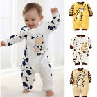 2015 Cute Cow Newborn Girls Boys Clothes Baby Outfit Infant Romper Clothes 0-24M