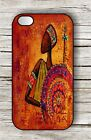 AFRICAN WARRIOR CASE COVER FOR iPHONE 4 / 4S OR 5 -dd3nj