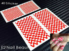 40 x Zaggy Zig Zag Nail Guide Vinyl Decal Sticker FREE SHIPPING