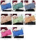 Brand New Womens Synthetic Suede Wallet, Purse, 11 colours 17 card slots Black