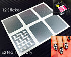 Houndstooth Nail Stencils Guide Vinyl Decal Sticker FREE SHIPPING x 12