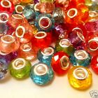 European Charm Faceted Acrylic Beads pick 50 or 100 piece Lot Multi-Colored J10