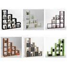 MEGA 2 Stepped Shelving Unit 10 Compartments White/Black/Purple/Walnut/Oak/Green