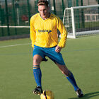 Precision Training Shirt & Shorts Football Set Yellow/Royal Teamwear V Neck