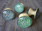 Vintage Chic Blue Green Cream Large Drawer Knobs Cupboard Door Handle Pull Knob