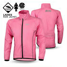 Ladies Cycling Waterproof Rain Jacket Outdoor Running Long Sleeves Jacket - Pink